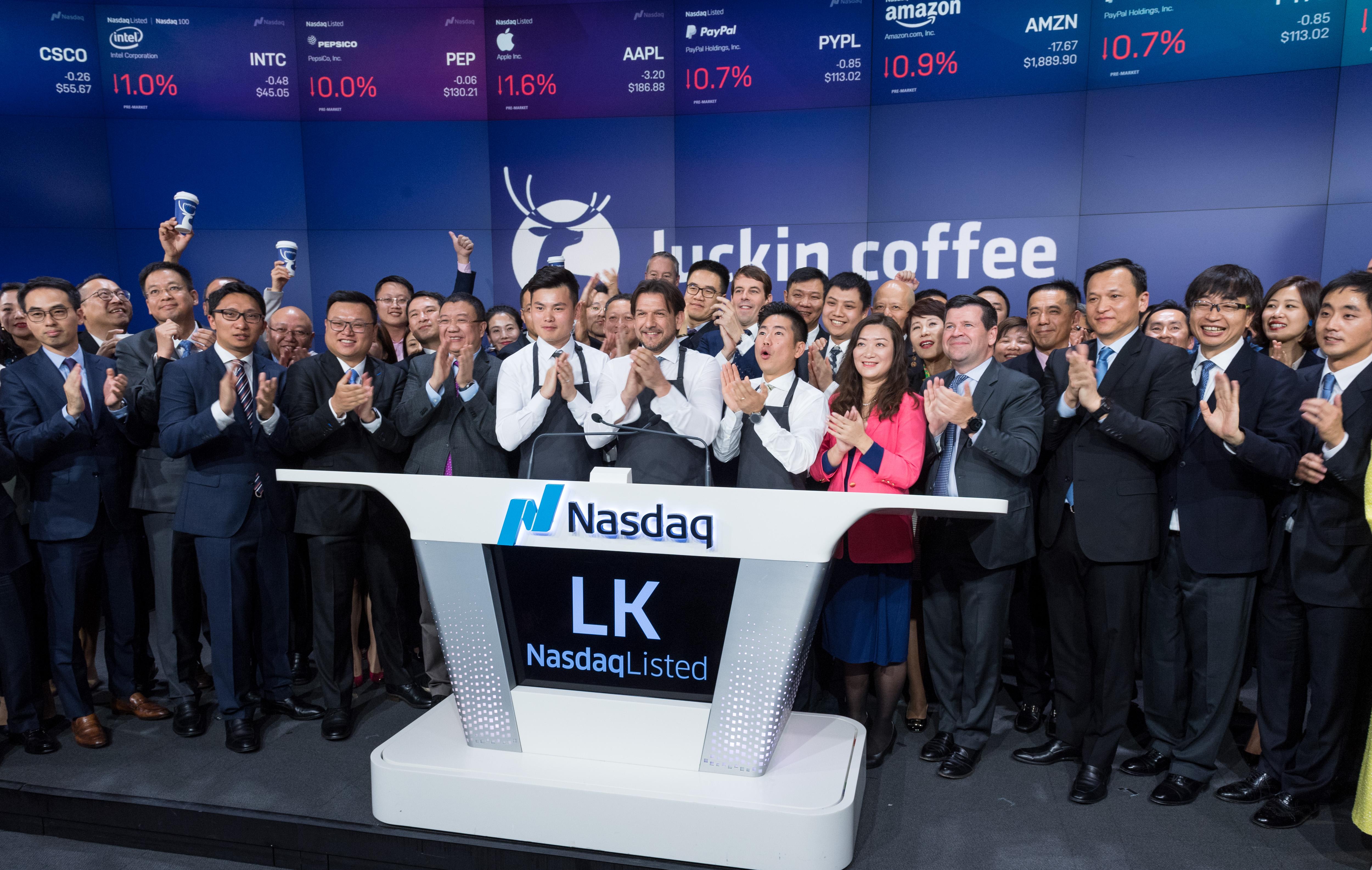 瑞幸咖啡纳斯达克IPO 募资6.95亿美元