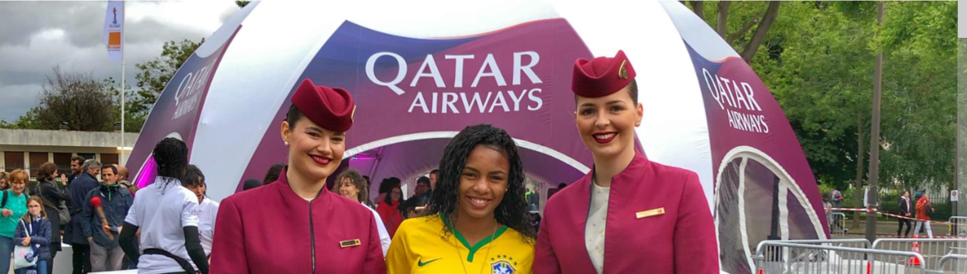 卡塔尔航空同数千球迷庆祝2019年法国女足世界杯开幕