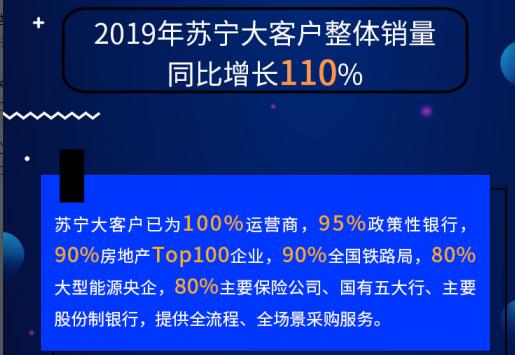 苏宁TOB市场表现亮眼 线上使用满意度居首、线下市场份额占比第一